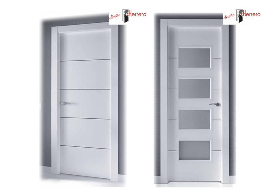 Venta de puertas lacadas en zaragoza dise o herrero for Puertas uniarte lacadas