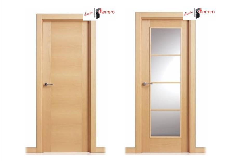 Puertas modernas interior cheap puerta lisa en madera for Puertas interiores modernas