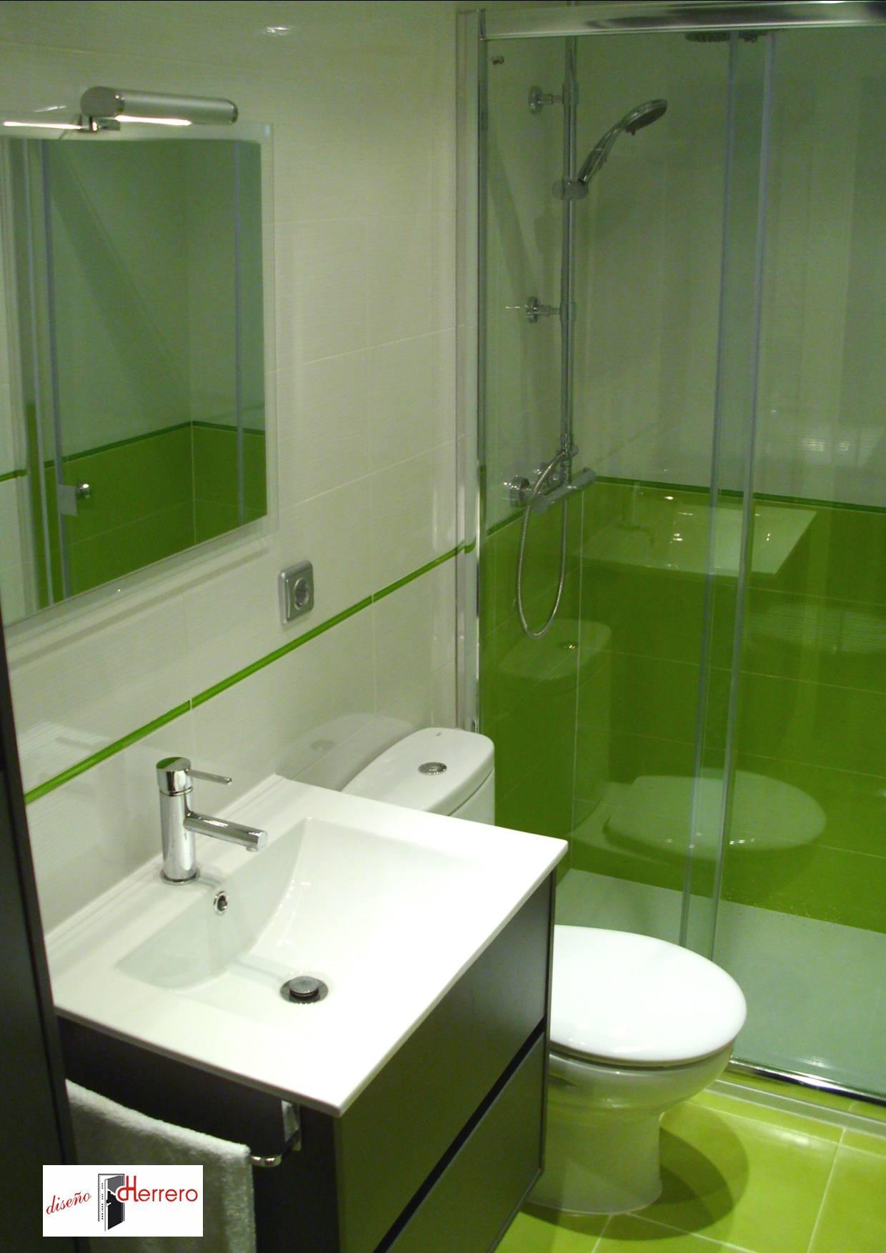 Reformas de baño en Zaragoza, modelo Zurich Verde - Diseño ...